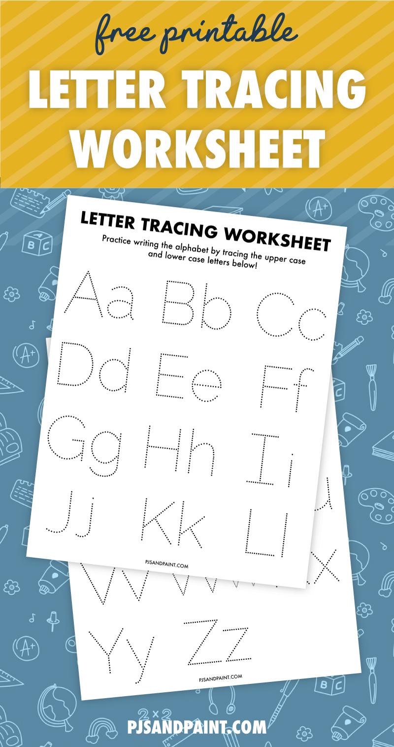 free printable letter tracing worksheet