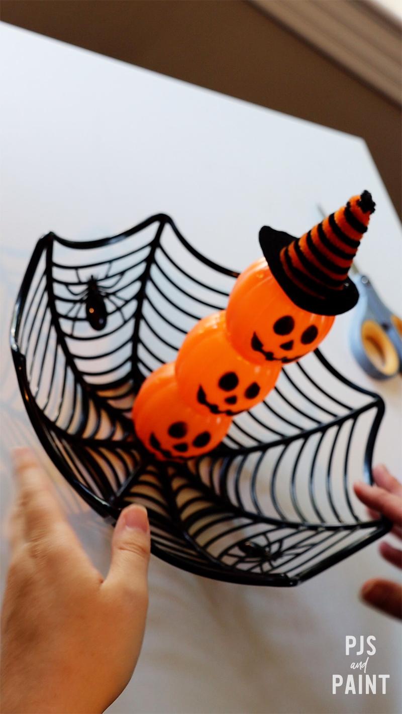 final pumpkin candy holder