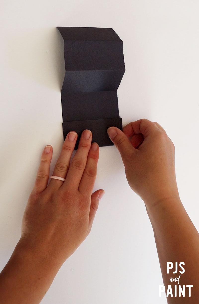 folding black paper